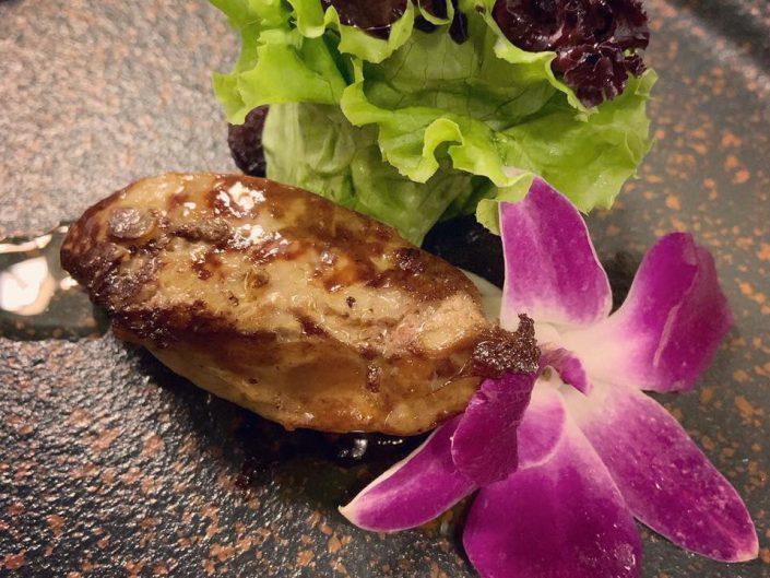Pan-seared Foie gras. Caramelized apple.